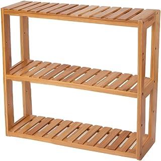 HBlife Bamboo 3-Tier Shelf Rack Utility Storage Organizing Plant Stand Multifunctional Bathroom Kitchen Living Room Holder...