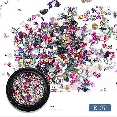 sinceY Nail Art Schmuck New York Storm Mine Schwarz Micro Bohrer Hybrid Black Boxed Broken Diamant Kristall Sand
