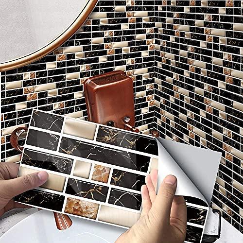 Adhesivos para escaleras, adhesivos para azulejos, adhesivos impermeables para escaleras, adhesivos de vinilo extraíbles en 3D, adhesivos de pared, mural para cocina, baño, decoración del hogar, bric