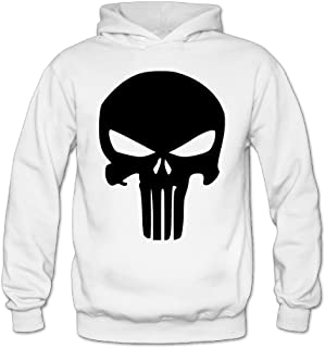 MARC Women's The Punisher Skull Sweater White