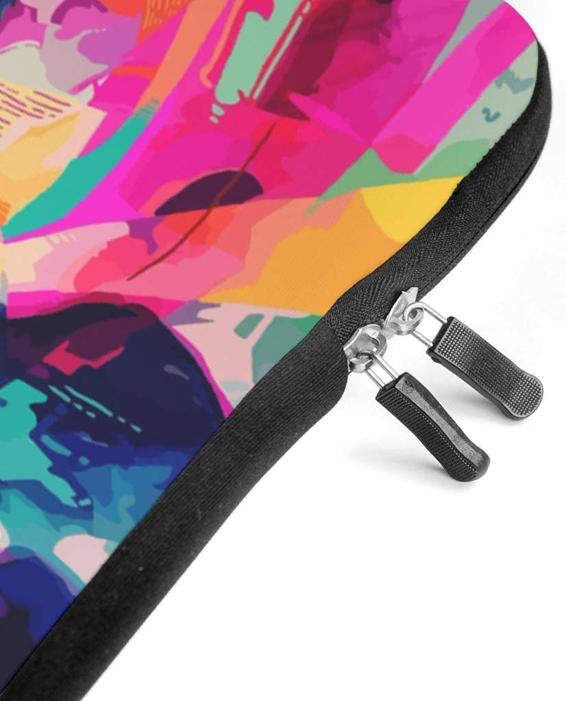 Girl Face Drawing Colorful Painting Laptop Sleeve Fashion Pattern Laptop Sleeve Scratch Resistant Neoprene Tablet Sleeves for Women Men White 17inch