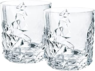 Nachtmann Sculpture Lead Crystal Tumblers, Set of 2