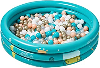 LINGLING-Ocean ball Pool Fence Children's Home Wave Pool Collapsible Indoor Children's Inflatable Toy Pool + Marine Ball + Aesthetic Color +Environmentally Friendly Material