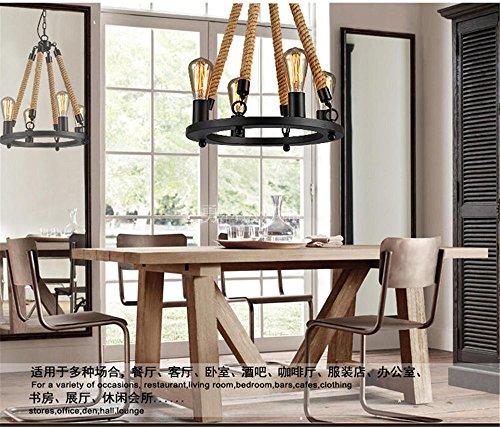 Sparkling FRD Amerikanische minimalistischen Industrial wind Eisen Jugendstil kreative nostalgische Kleidung Geschäfte sisal Parlor Lounge Halle Kronleuchtern, Einstellbar 40 * 60 cm