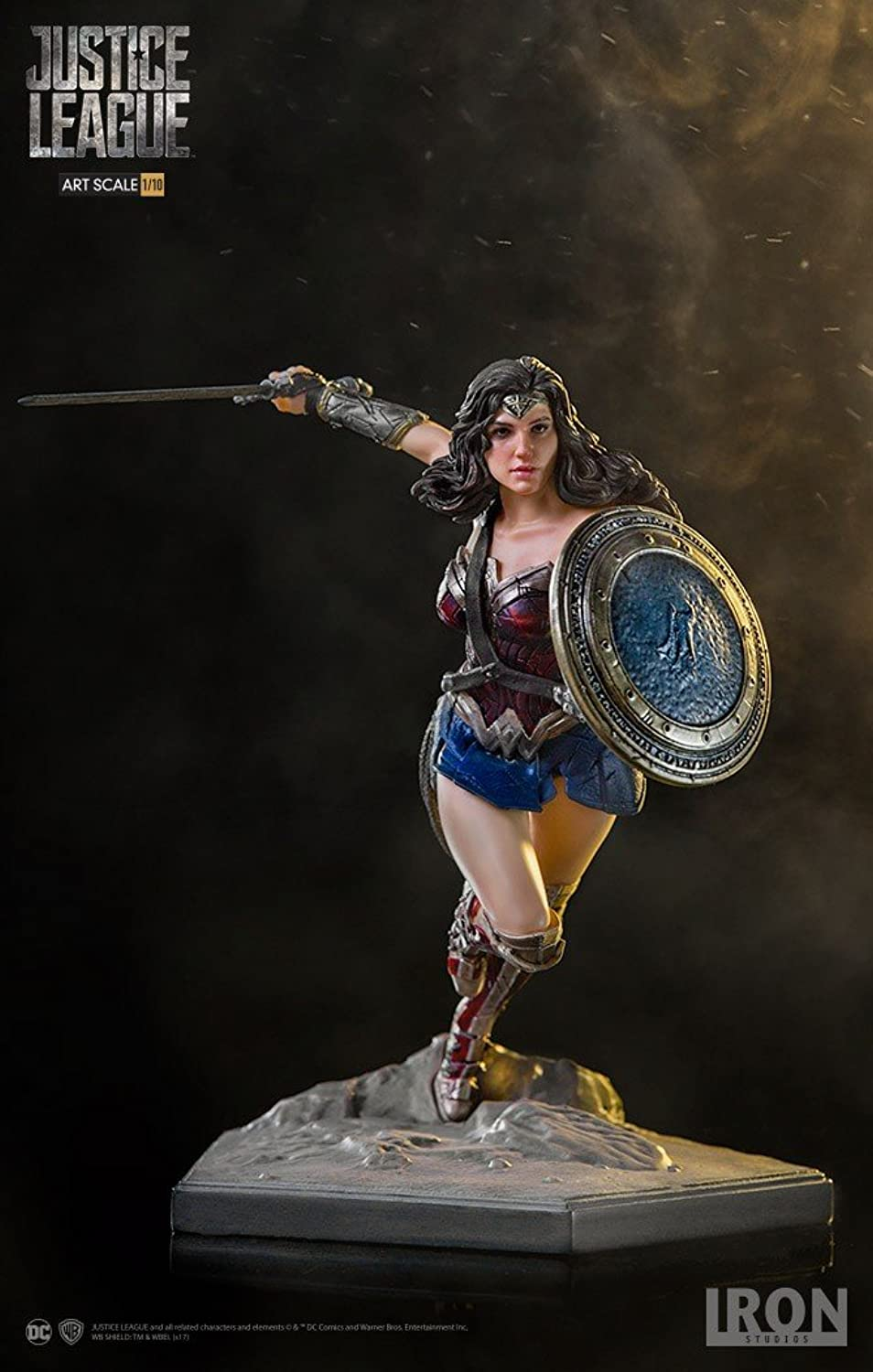 Eisen Studios is30098011  10Justice League Wonder Woman Art Mastab Statue, rot, blau