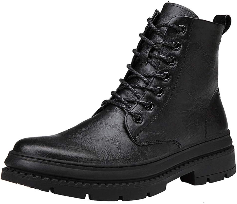 Men'S Boots Winter Martin Boots Men Plus Velvet Warm High Men'S shoes Leather Tooling Military Boots