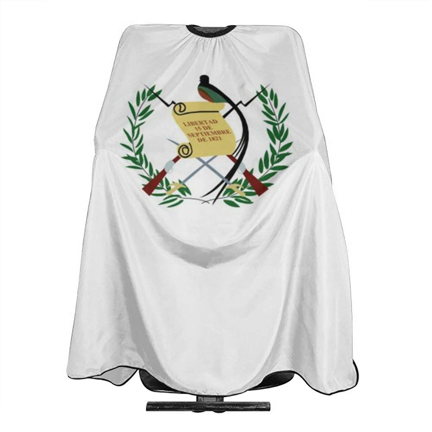 PNNUO Salon Cape Barber Haircut Apron Guatemala Flag with Snap Closure Waterproof Professional Hairdressing Cover for Hair Cutting Cut krpvsweerpn7