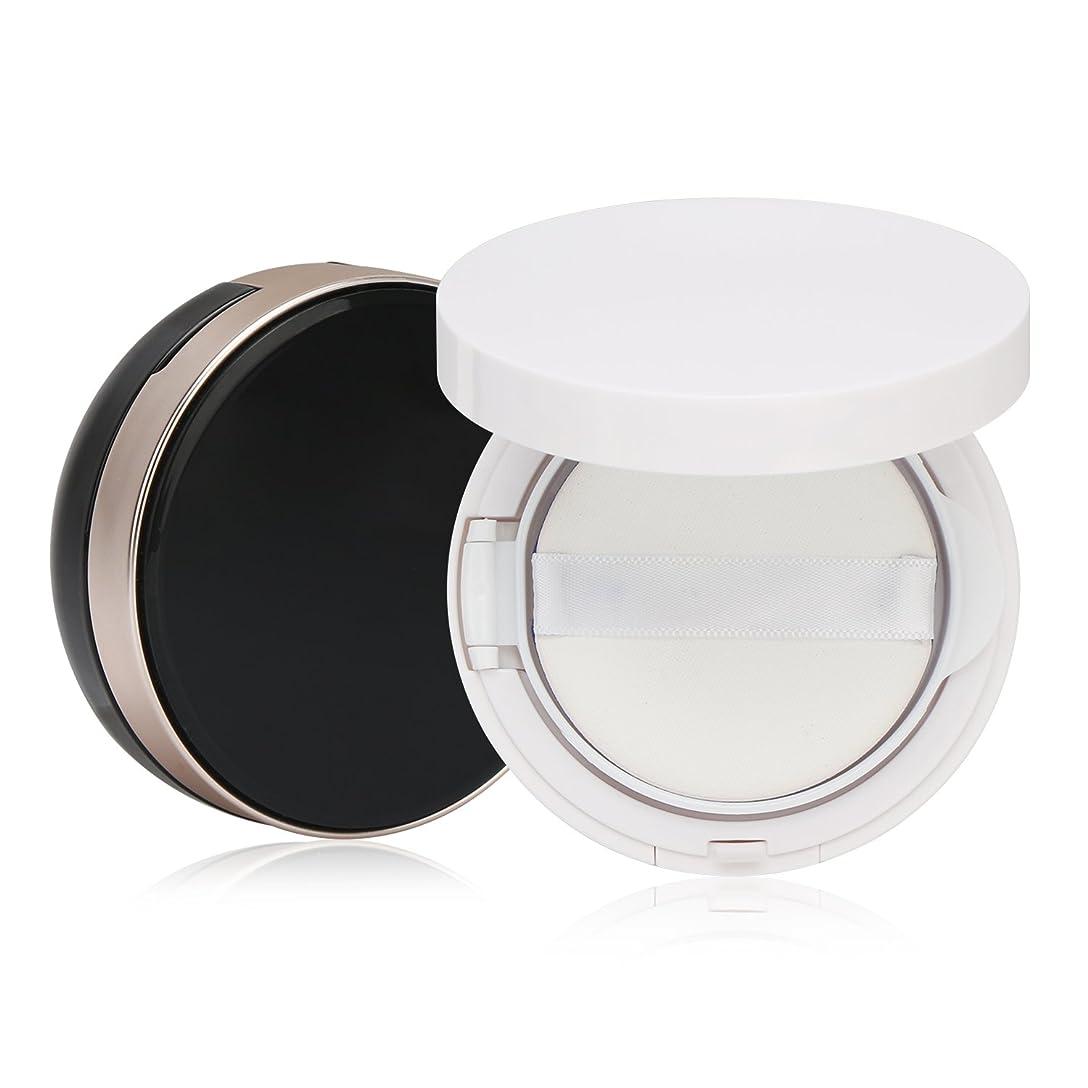 偽うまくやる()受動的Segbeauty エアクッションボックス パウダーコンテナ BBクリーム 化粧品 詰替え DIY 黒いと白いのセット