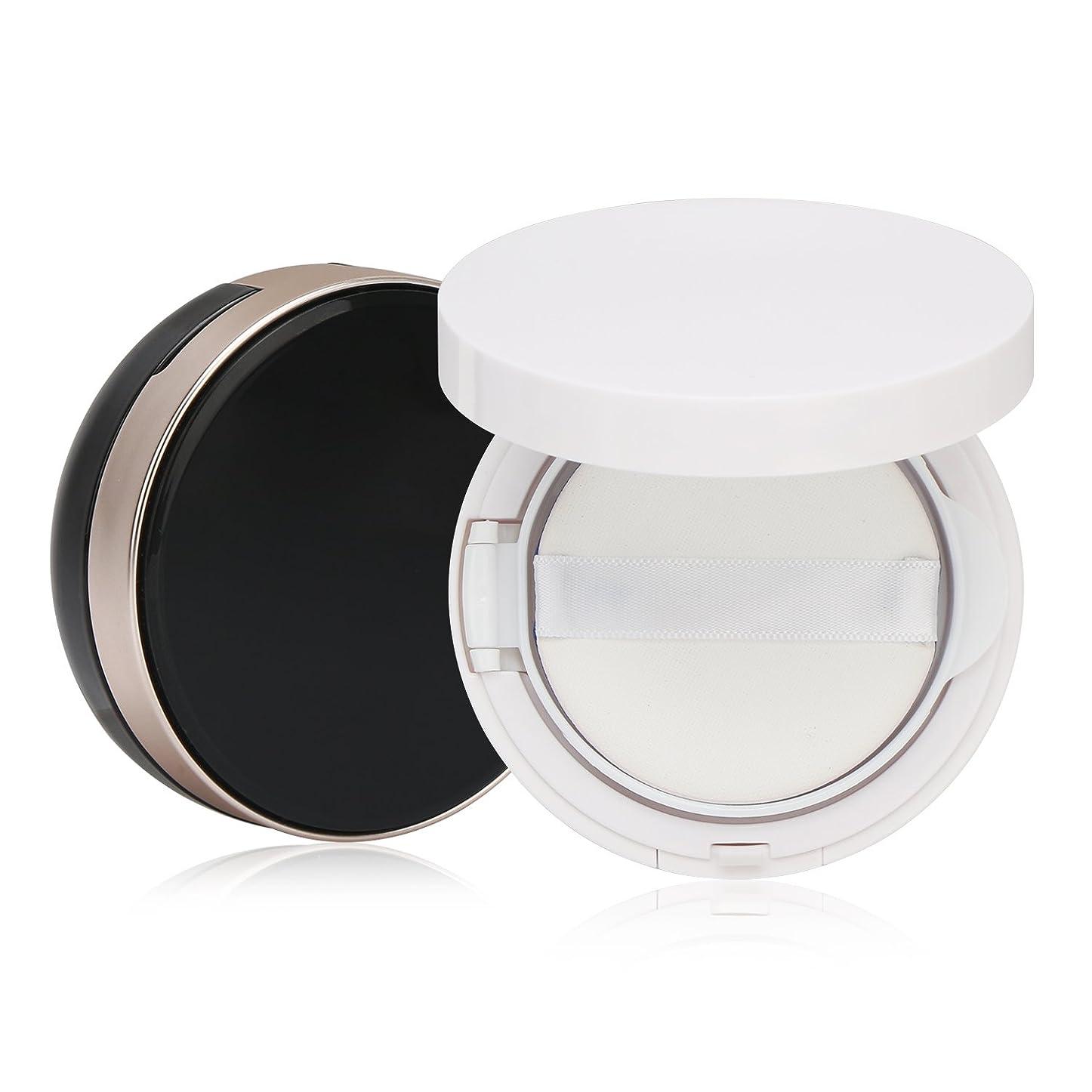 バルブ伝統虹Segbeauty エアクッションボックス パウダーコンテナ BBクリーム 化粧品 詰替え DIY 黒いと白いのセット