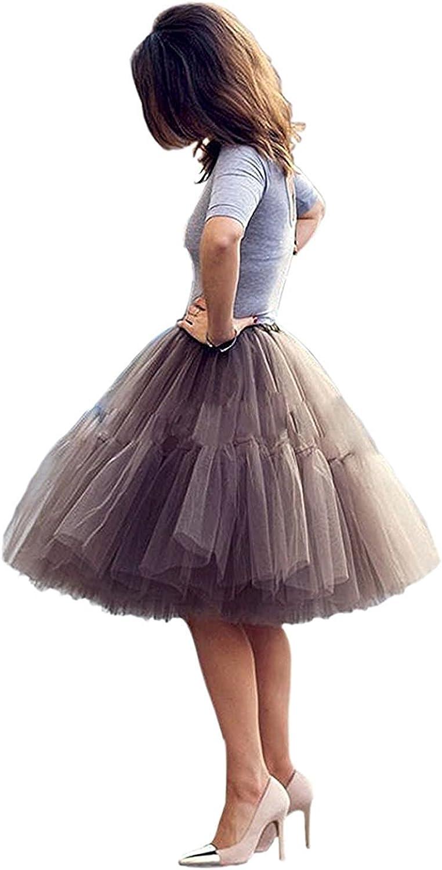Nina Vintage Tutu Tulle Midi Womens Ballet Faldas Skirt Underskirt NND056