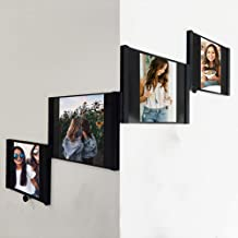 SITENG Leggy Horse Picture Frame, 5x7 inch Photo Display for Desk or Wall, Black