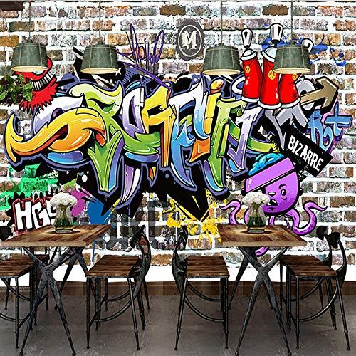 3D Fotomurales No Tejido Mural Letras De Graffiti Salón Dormitorio Despacho Pasillo Decoración Murales Decoración De Paredes Moderna 200X150cm