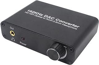 KESOTO Conversor Digital óptico para Analógico de 192KHZ DAC L/R 3,5 Mm
