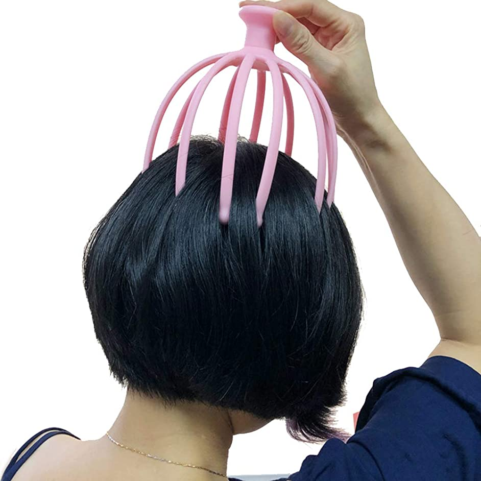 仕事に行くオフモザイクヘッドマッサージ 鋼球 12本の爪 マッサージャーツボ なだめるような ブレーンストーミング 人目を引く 頭皮 マッサージャー ? (1パック),Pink
