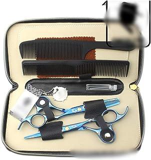 Professional Barber 6.0 Inch Hair Color Scissors Set, Blue Cherry Professional Hairdressing Tools Set Scissors (Color : Blue)