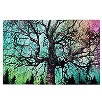 1000 ピース ジグソーパズル,Night Sky Tree Picture Puzzle 大人 子供 の 木製パズル 独立した実践的なスキルを養う 親子ゲーム 減圧玩具ギフト ジグソーパズル 組み立てジグソー楽しいゲームジグソーパズル 子供 初心者向け ギフト プレゼント