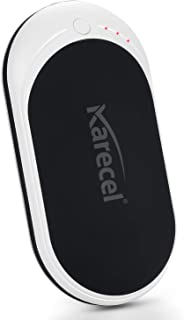 KARECEL Hand Warmers Rechargeable, USB Hand Warmer Reusable 5200mAh Powerbank Portable Heater Battery Hot Pocket Warmer Electric Handwarmers, Great Gifts for Men and Women in Cold Wether Winter