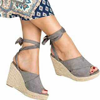 c75a9196216 Amazon.com: Grey - Heeled Sandals / Sandals: Clothing, Shoes & Jewelry