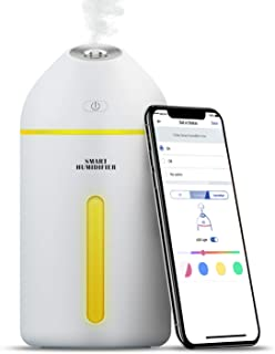 Humidificateur d'Air, 320ml Humidificateur Ultrasonique Mini Compatible avec Alexa, Google Home et SmartThings, Humidifica...