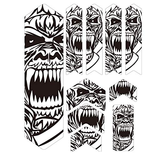 ENLEE Bike Frame Guard XL Bicycle Stickers Frame Protector for MTB Mountain Bike Road Bicycles and Dirty Bikes (warrior)