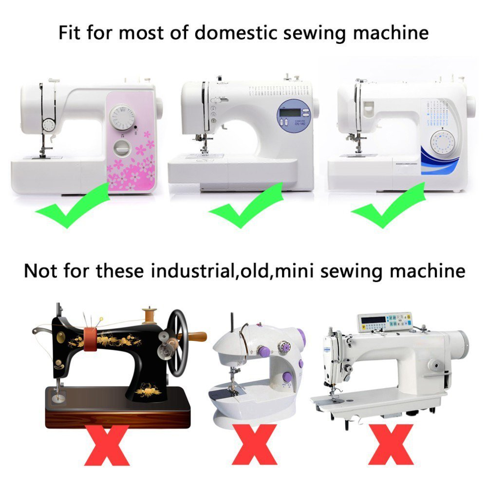 15 pcs Accesorios Máquina de coser prensatelas Kit dobladillo ...