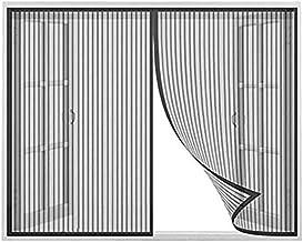 Magnetisch raam voor horren, Zwart_165x160cm, muggennet hordeur voor Raamhor, Vliegengaas gordijn met krachtige magneten, ...