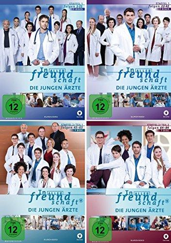 Preisvergleich Produktbild In aller Freundschaft - Die jungen Ärzte - Staffel 1.1 - 2.2 (Folge 1-84) im Set - Deutsche Originalware