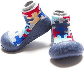 [Attipas] アティパス ベビーシューズ [ パズル ] / かわいいベビーシューズ 滑り止め 公園遊び 出産祝い プレゼント あんよの練習 保育園靴 ソックスシューズ プレシューズ 室内履き 女の子 男の子