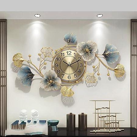 GULLI BULLI Metal Wall Clock Stylish for Living Bed Room Home Decor Art & Hanging Decorative Showpiece Items 33 x 19 Inch (XLWC_H_003)
