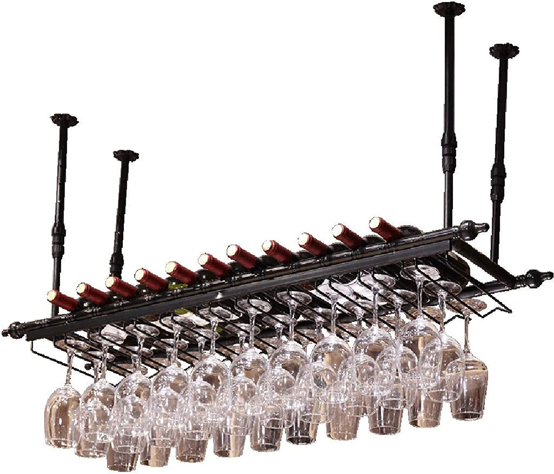 Red Wine Shelf Wine Rack Wine Glass Holder Goblet Holder Wrought Iron Upside Down Home Bar Restaurant Multi-Size Wine Rack (Size   120  30cm) (Size   60  30cm)
