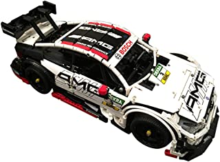 YDYL-LI 1129 PCS AMG C63 DTM 1:10 Supercar Building Block RC Car Kit, MOC-6687 Model Building Blocks Compatible with Lego, Bricks Toy for Adult Or Kid,Static Version