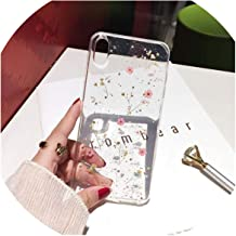 Qianliao Real Flowers Dried Flowers Transparent Soft TPU Cover for iPhone X 6 6S 7 8 Plus Phone Case for iPhone XR XS Max Cover,1,for iPhone 6 Plus