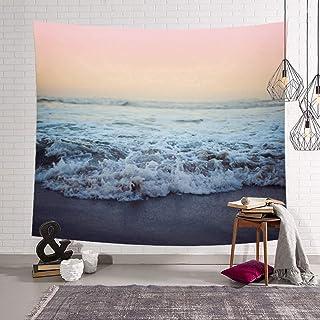 Daesar Arazzo Murale Arazzo Personalizzato Nero Bianco Rosa Fiore Telo Parete 150x130CM Arazzo Poliestere