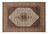BADOHI BIDJAR echter klassischer Orient-Teppich handgeknüpft in creme-beige, Größe: 40x60 cm