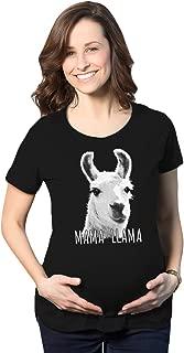 Maternity Mama Llama Pregnancy Tshirt Funny Tee for Mom to Be