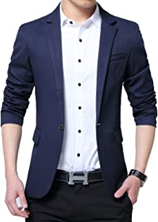 Men's Slim Fit Suits Casual Wear Lightweight Blazer Jacket