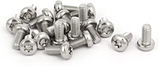 uxcell M5x10mm 304 Stainless Steel Button Head T25 Torx Screws Bolts Silver Tone 20pcs