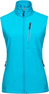 33,000ft Women's Lightweight Softshell Running Vest Outerwear, Windproof Reflective Sleeveless Jacket for Golf Cycling Hiking