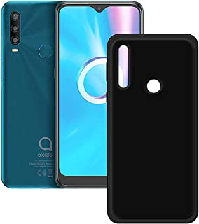 FZZ Slim Thin Black Case for Alcatel 1 SP, Soft Protective Phone Cover With Flexible TPU Protection Bumper Shell for Alcat...