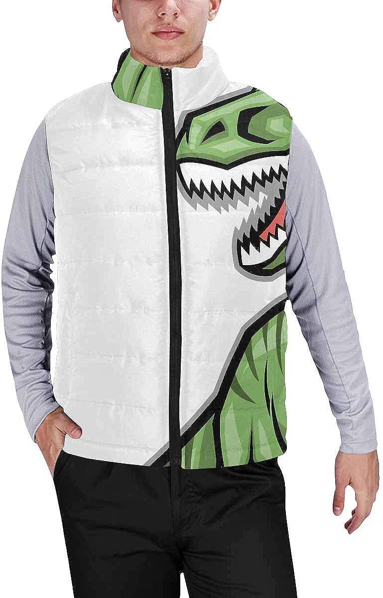 InterestPrint Men's Winter Full-Zip Outwear Padded Vest Coats Rainbow Piano Keys