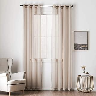 Best beige voile curtains Reviews