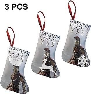 IROTJYH1 Assassin's Creed Odyssey-2 Santa Snowman Reindeer Christmas Stockings 3 Pcs Set 7.5