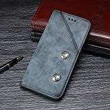 bella bear custodia per razer phone 2,portafogli di pelle funzione staffa materiale pu morbido stile di business(blu)