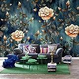 Papel tapiz 3D personalizado Murales Retro Abstracto Floral Pintura de pared Estudio Sala de estar Dormitorio Papel tapiz Revestimiento de paredes Flor Mural-250 * 175cm