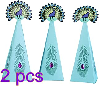 NMFIN 40pcs Wedding Party Favor Boxes,DIY Peacock Candy Chocolate Boxes,Paper Gift Bags,Goodie Bags,Treat Boxes for Wedding Bridal Shower Baby Shower Birthday Party Anniverary Favors