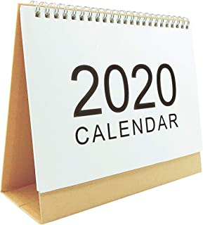 Luckkyme August 2019 to December 2020 Stand Up Desk Calendar, Desktop Calendar Monthly Planner Daily Calendar Planner for School, Classroom, Office, Home Use (Medium)