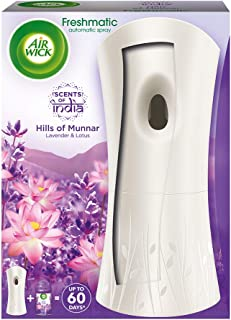 Airwick Freshmatic 'Scents of India' Air-freshner Complete Kit [Machine + Hills of Munnar refill - 250 ml]