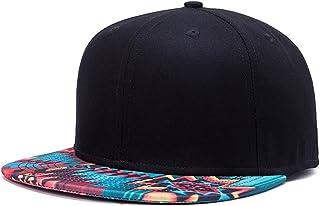 Soeach Unisex 3D Galaxy Aztec Print Flatbill Visor Snapback Baseball Hat Neon Sign