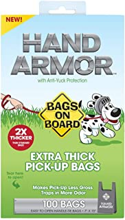 Bags On Board Hand Armor Dog Poop Bags | Extra Thick Dog Waste Bags with Leak Proof Protection