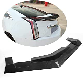 MCARCAR KIT Trunk Spoiler fits Cadillac CTS Coupe 2009-2015 Factory Outlet Carbon Fiber CF Rear Boot Lid Highkick Spoiler Wing Lip